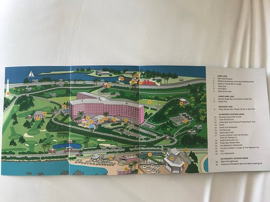 Southampton Bermuda Map Map of the hotel   Picture of Fairmont Southampton   Beach, Spa