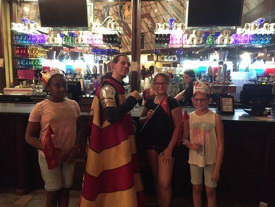Lyndhurst, NJ: Girl Scouts with their knight