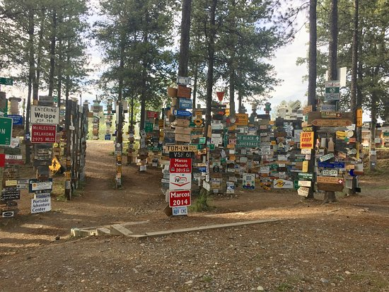 Watson Lake, Canada: rows and rows of sign posts