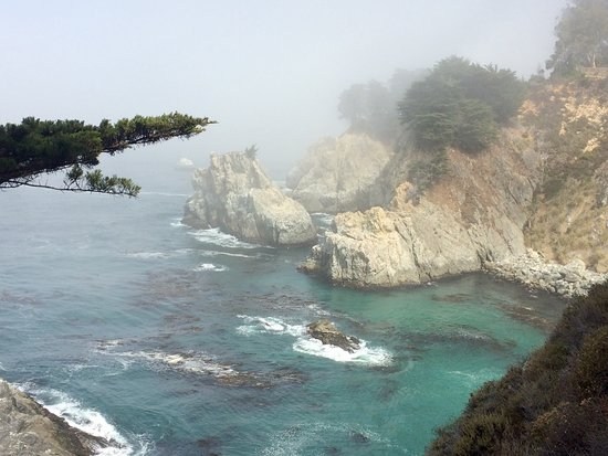 McWay Falls: views from the trail near the falls