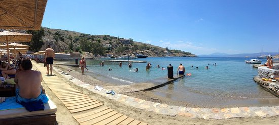 Mandraki Resort Beach The Only Sandy On Hydra Island Is At