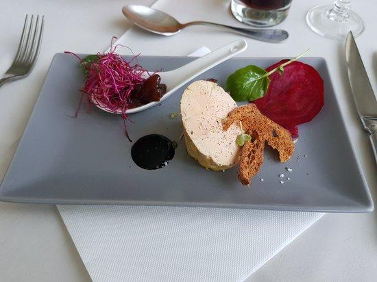 Gimont, فرنسا: entrée foie gras