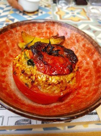 Panicale, Italie: Pomodori al riso. Deliziosi