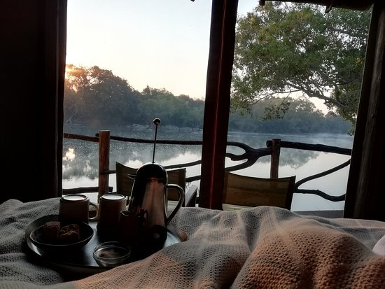 Kafue National Park, Zambia: Ask for coffee in bed.....a highlight!