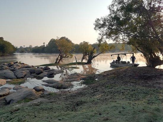 Kafue National Park, Zambia: Early morning river cruise / fishing.