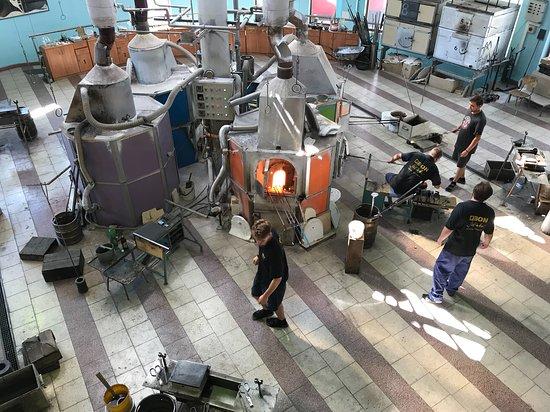 Novy Bor, Republik Ceko: In der Glasfabrik