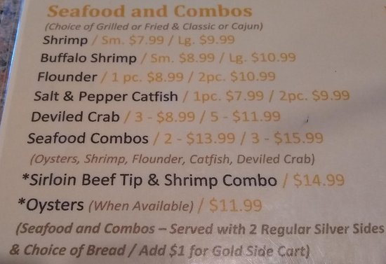 Laurel Springs, NC: Seafood.