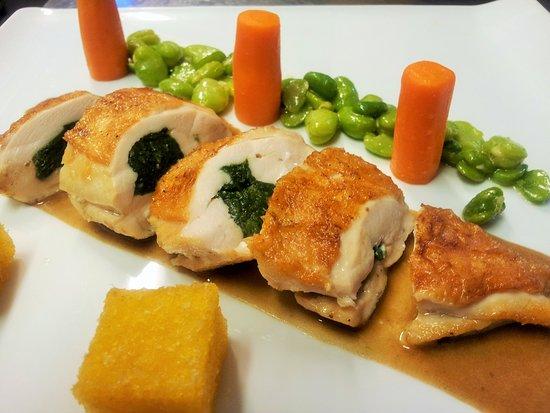 Strombeek-Bever, Belgien: stuffed chicken