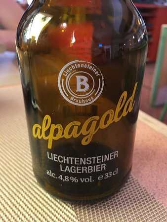 Schaan, Liechtenstein: A Liechtensteiner Lager Beer