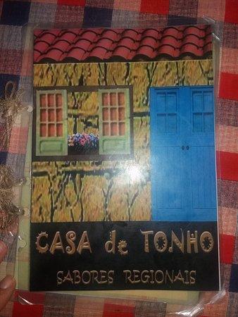 Casa De Tonho Sabores Regionais: Cardápio