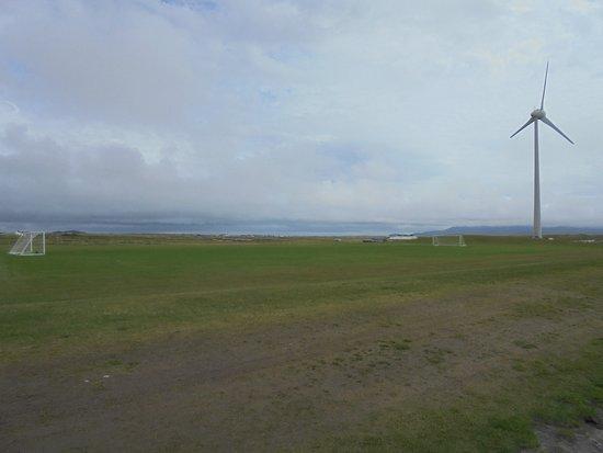 Benbecula Island, UK: View towards the beach