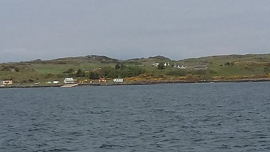 Isle of Gigha, UK: from the ferry - approaching Gigha