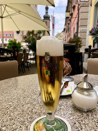 Weikersheim - a cool beer after visiting the castle