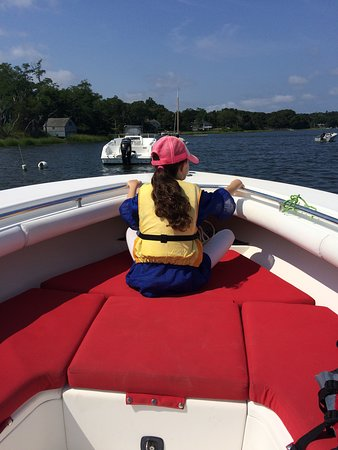 East Orleans, MA: My daughter's favorite spot in the boat