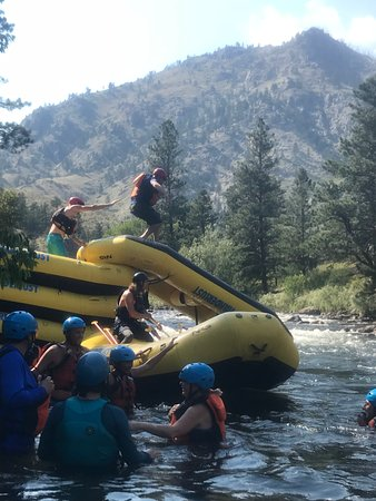 A Wanderlust Adventure: Improvised slide on the river