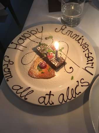 Great Anniversary Dinner Picture Of Alec S Restaurant