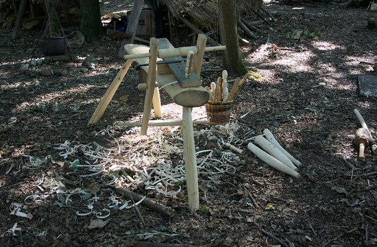 Chalfont St. Giles, UK: demonstrating traditional furniture making