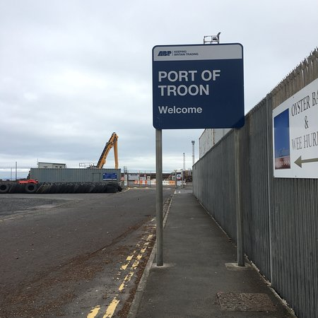 Port of Troon— Boats in the port on one side and views of the sea on the other