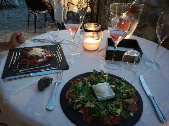 Montescudo, Italien: Carne salada e carpaccio di vitellone