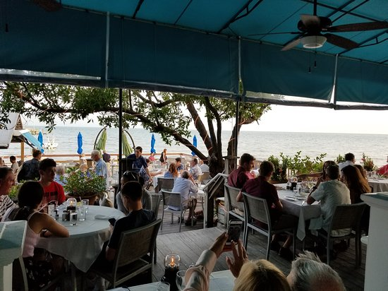 Backyard Restaurant Key West outdoor dining on the ocean in key west - picture of louie's