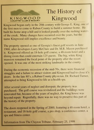 Kingwood Country Club & Resort: Explains beginning, two endings,and tried to make it sounds good.