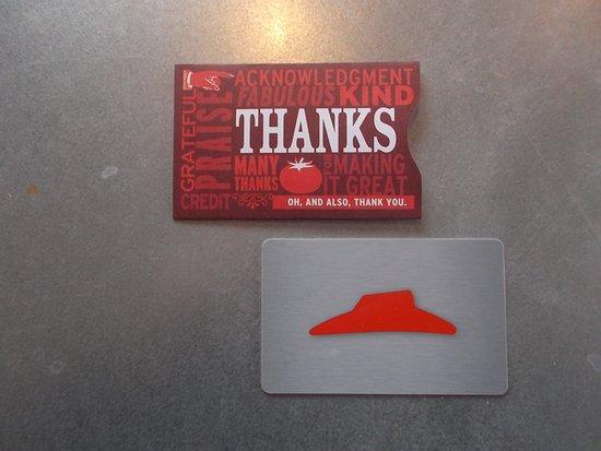 My Pizza Hut Gift Card I Used At The Eagle River Alaska Pizza Hut