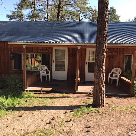 One picture cannot describe the beauty that surrounds the Geronimo Trail Guest Ranch. Our cabin,