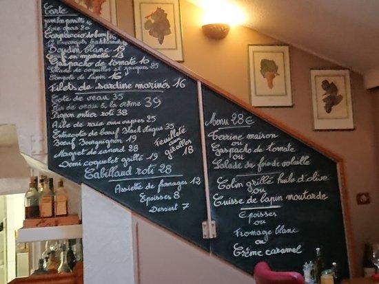 Ma Cuisine: ある日の献立.アラカルトはほぼ不変.定食は日替わり.