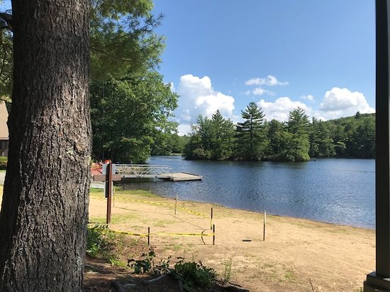 Gardner, MA: dock for kyaks or kids to jump from