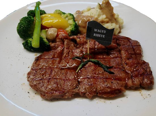 Mouthwatering, melt in your mouth tasty Wagyu Ribeye.