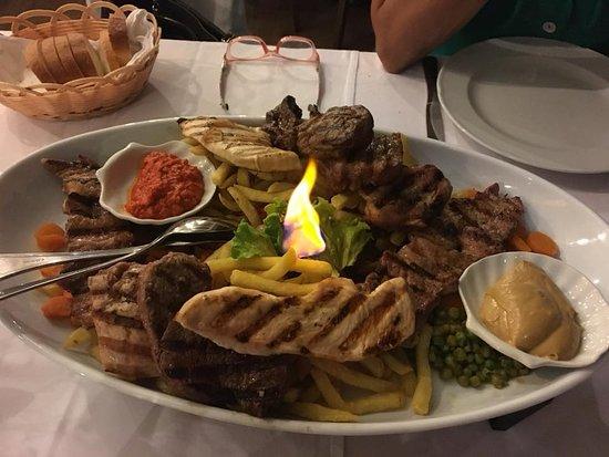 Restaurant Histria: Misto di carne alla griglia