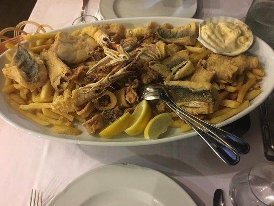 Restaurant Histria: fritto di pesce Marina