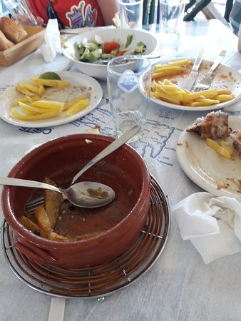 Keratokampos, Grecia: Φοβερό φαγητό.