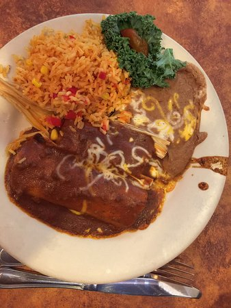 Warrensville Heights, OH: Enchilada with tamale at Abuelo's