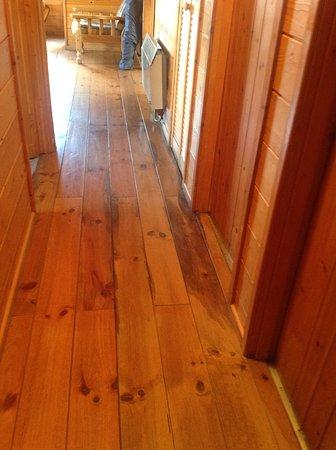 Belturbet, Irlandia: Water damage to floor boards in hallway.