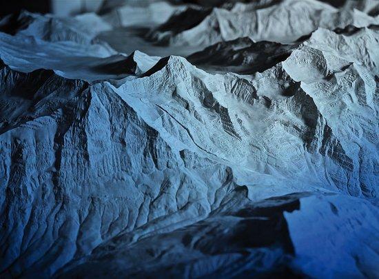 Word Nature Forum - UNESCO World Heritage Swiss Alps Jungfrau-Aletsch: Simon-Simon Relief - über hundertjähriges Alpen-Relief erstellt vom Schweizer Ingenieur Simon Si