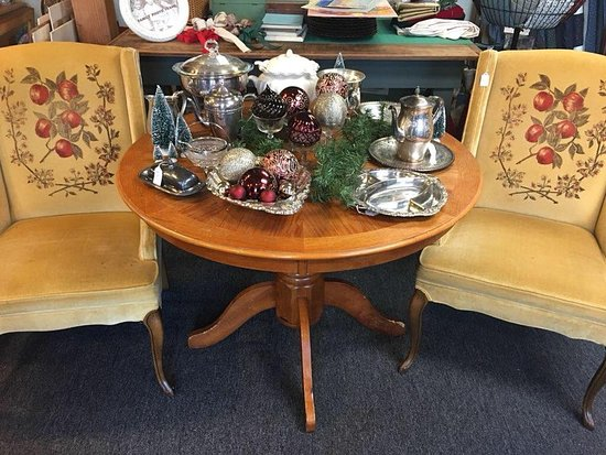 Vintage Velvet Chairs And Silver Sets With Country Living Table