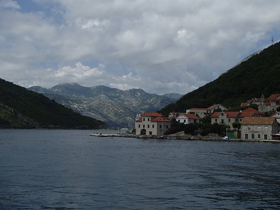 Kamenari, Montenegro: Lepetane side of Bay of Kotor near ferry dock