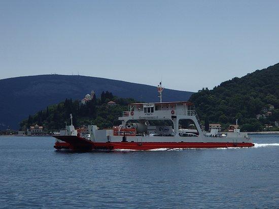 Kamenari, Montenegro: Ferry crossing Bay of Kotor