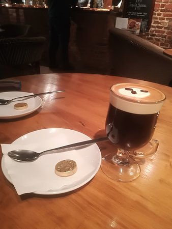 Stoke by Nayland, UK: Lovely Irish coffee to end a great meal