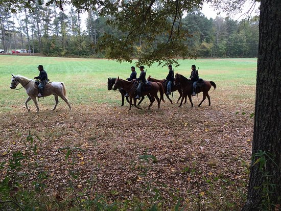 Hamilton, NC: Federal cavalry at the annual November re-enactment.
