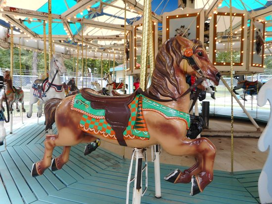 Winslow, a horse on the the carousel in Krape Park in Freeport, IL.