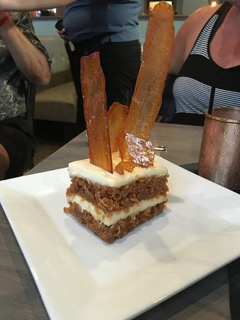 Weymouth, MA: Carrot cake with glazed carrots on top