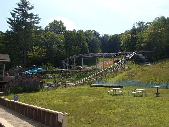 Bartlett, NH: Loading area for Mountain Coaster