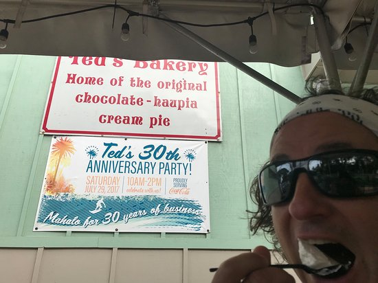Sunset Beach, HI: Ted's Bakery Chocolate-haapia cream pie, these are seriously yummy!
