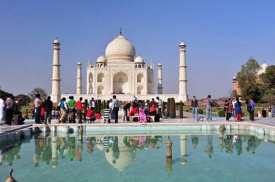 Soloppgang Taj Mahal og Agra Fort...