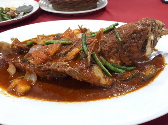 Sitiawan, Malaysia: fish asam pedas -rm46++,very cheap compared to KL