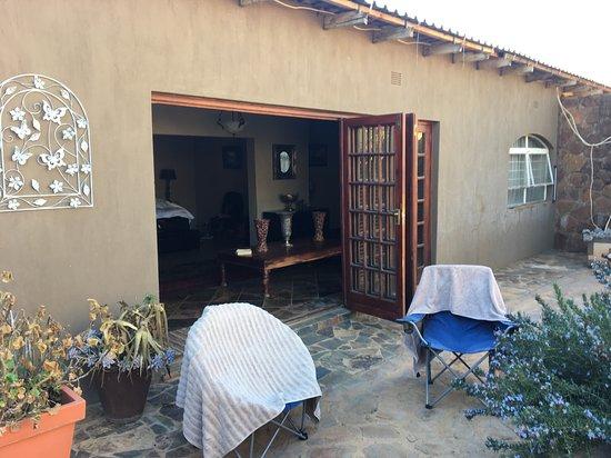 Swartruggens, Südafrika: Cielo Guest Farm - private enclosed garden
