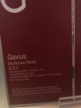 Gabiano, Italy: Caratteristiche Gavius