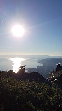 Coucou Restaurant Caux-Montreux: sunset